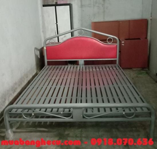 mẫu giường sắt 1m6