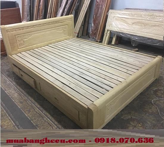 giường gỗ xoan đào 1m6 thanh lý