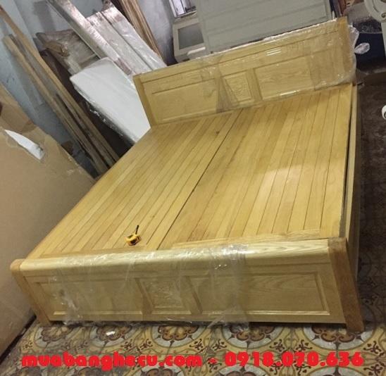 giường ngủ 1m8 gỗ sồi
