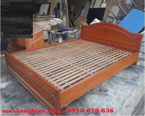 giường gỗ xoan đào 1m6 x 2m