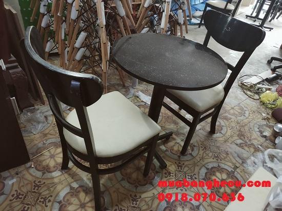 Thanh Lý Bộ Bàn Ghế Cafe Gỗ Xuất Khẩu - Hình 1