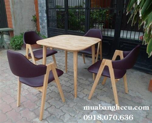 Bộ Bàn Ghế Cafe Chữ A Tồn Kho Thanh Lý -1