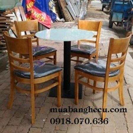 Bộ Bàn Ghế Cafe Gỗ Tồn Kho Thanh Lý -1