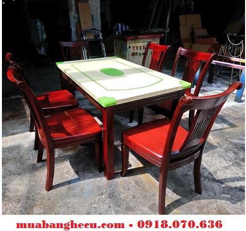 thanh lý bộ bàn ăn 6 ghế