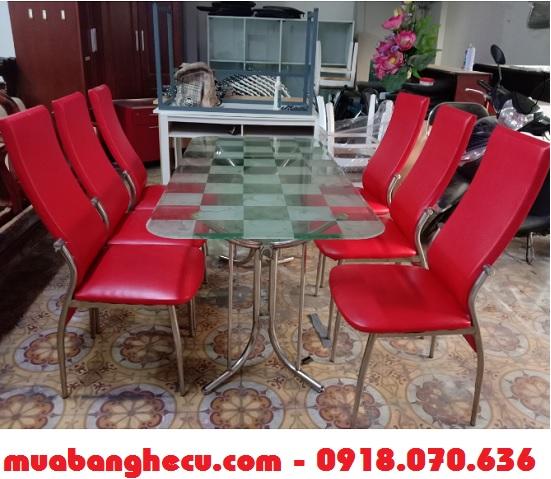 bộ bàn ăn tphcm 6 ghế