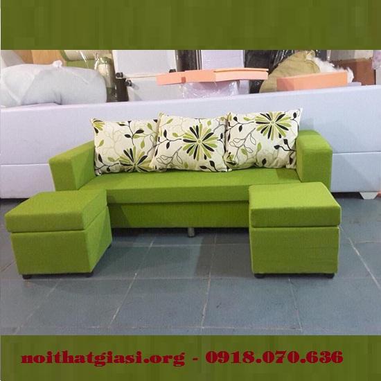 Bộ Sofa Mini Gia Đình Cao Cấp Màu Kem Xanh (Mẫu 2) -1