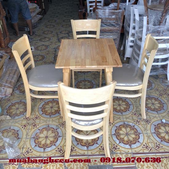 Bộ Bàn Ghế Cafe Cabin 4 Ghế Thanh Lý Giá Rẻ -1