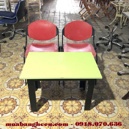 Thanh Lý Bàn Ghế Cafe Nhựa Chân Sắt Cũ -1
