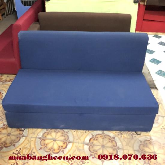 Thanh Lý Ghế Sofa Đôi Bọc Vải 1m2 Màu Xanh -1
