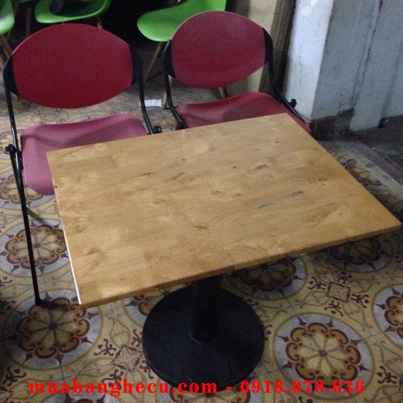 Thanh Lý Bộ Bàn Ghế Cafe Cũ Giá Rẻ Chân Sắt -1