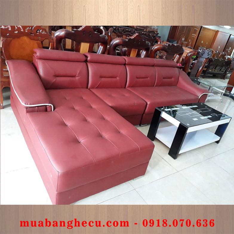 Thanh Lý Bộ Sofa Phòng Khách Giá Rẻ Bọc Da -1