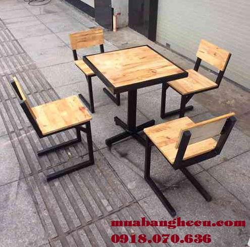bàn ghế gỗ sân vườn đẹp