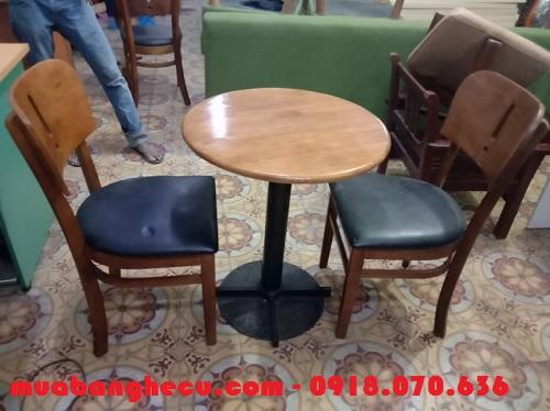 bộ bàn ghế gỗ cho quán cafe