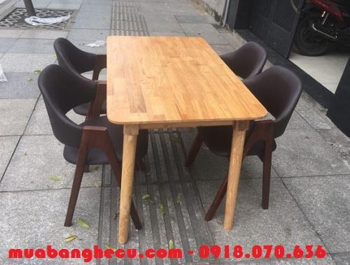 thanh lý bộ bàn ghế gỗ cho nhà hàng