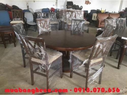 bàn ghế gỗ cũ cho phòng ăn