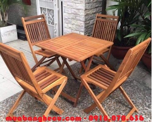 bán bộ bàn ghế cafe bằng gỗ