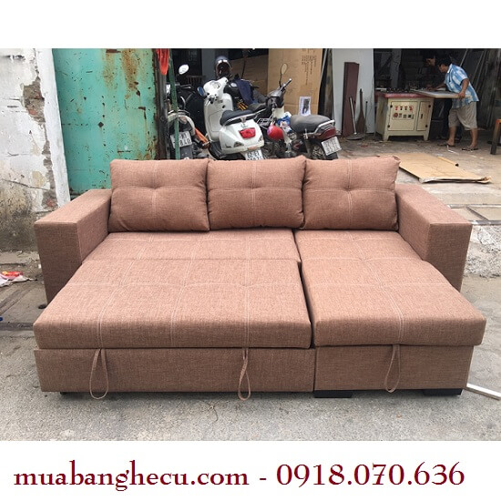 Sofa Xuất Khẩu Đa Năng Bọc Nỉ Thanh Lý -1