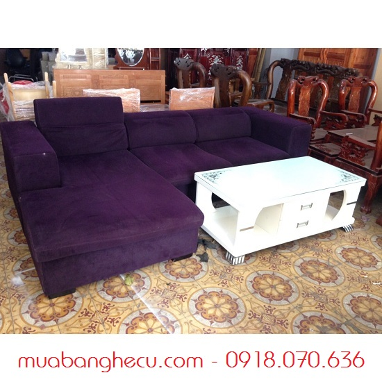 Bộ Sofa Gốc L 2m6 x 1m55 Màu Tím -1