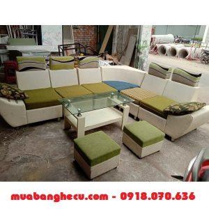 Thanh Lý Bộ Sofa Cũ Bọc Vải Nỉ 95% Giá Rẻ -1