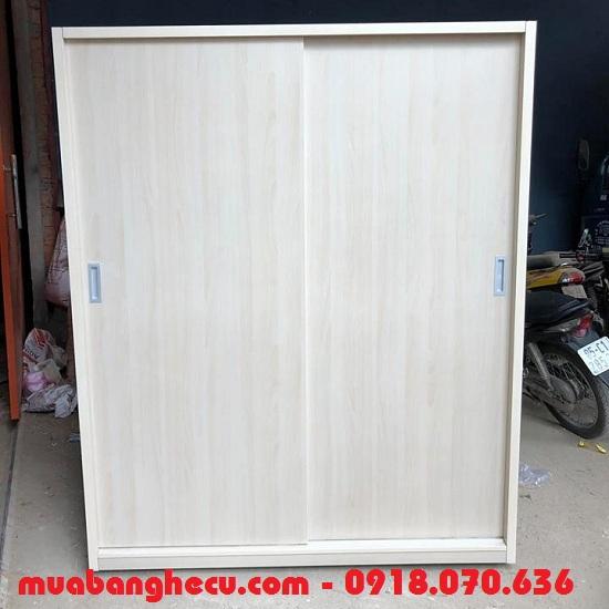 Tủ quần áo cửa lùa 1m4 gỗ công nghiệp