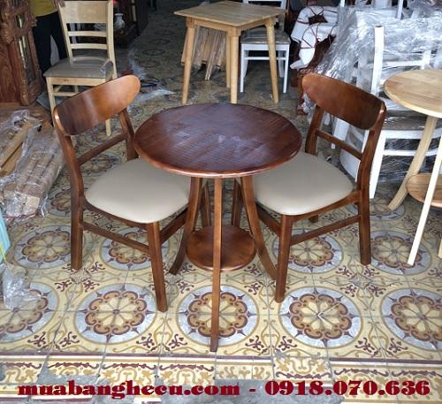 bàn ghế cũ cho quán trà sữa