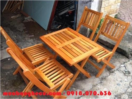 thanh lý bàn ghế gỗ pallet