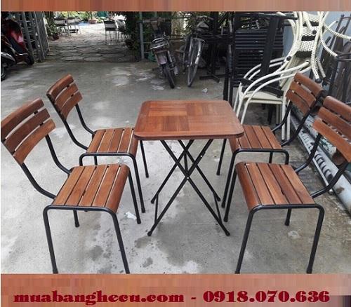bàn ghế gỗ pallet giá rẻ tphcm