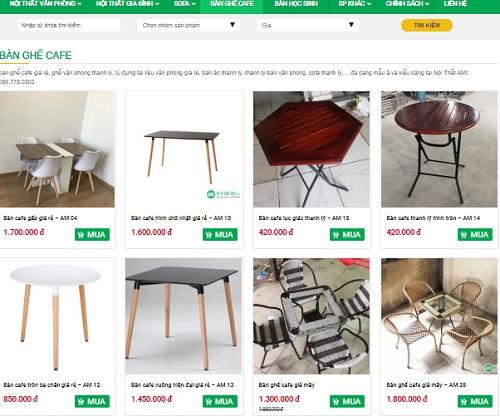 thanh lý bàn ghế gỗ cafe hà nội
