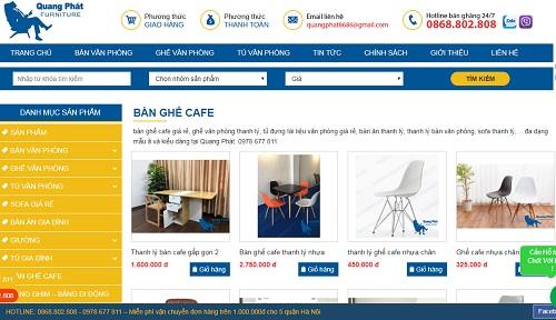 thanh lý bàn ghế cafe giá rẻ tại hà nội