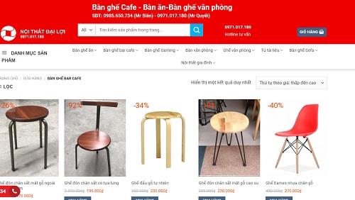 bàn ghế gỗ cafe thanh lý tại hà nội