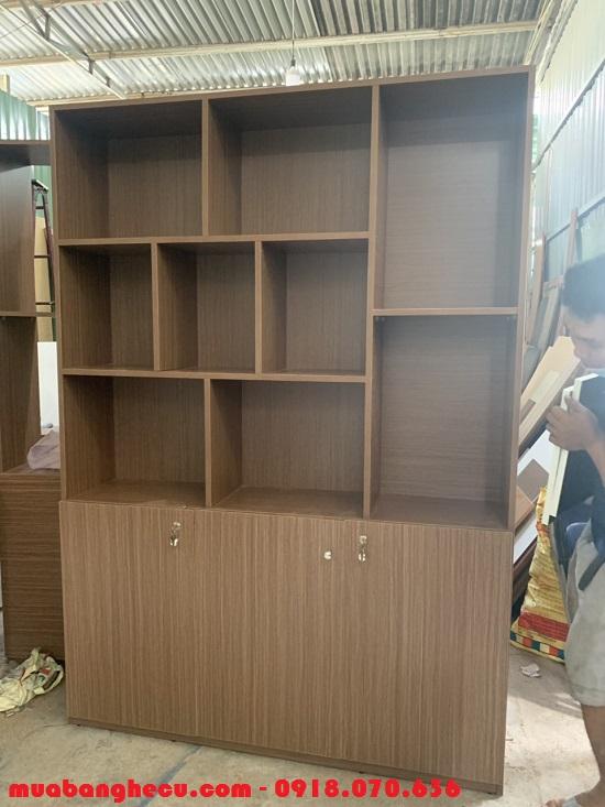 Tủ Kệ Trưng Bày - Tủ Kệ Sách Tồn Kho 1m4 x 2m, Mới 99% - Hình 1